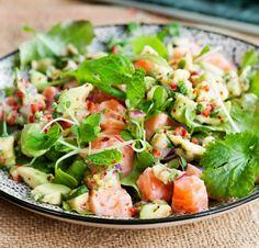 Lohiceviche ja salaattia, resepti – Ruoka.fi Deli, Pasta Salad, Tapas, Fish, Ethnic Recipes, Crab Pasta Salad, Noodle Salads