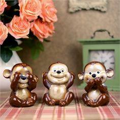 Seramik Üç Maymun Biblo