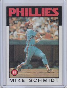 Mike Schmidt Philadelphia Phillies 1986 Topps Baseball Card Phillies Baseball, Baseball Cards, Philadelphia Phillies, Chicago White Sox, Schmidt, Sports, Major League, Fitness, Ideas