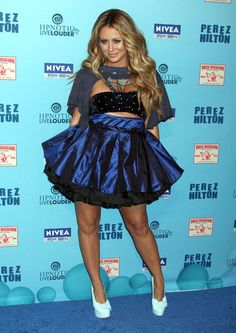 Aubrey O'Day Photos Photos - Celebrities at the Perez Hilton Blue Ball Birthday Celebration at Siren Studios in Hollywood, CA. - The Perez Hilton Blue Ball Birthday Celebration