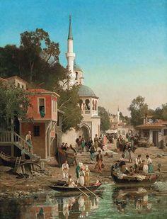 Germain Fabius Brest Germain Fabius Brest: (1823–1900) Yapıtlarında canlı, renkli, ahşap ev gruplarını, gölgeli ağaç kümelerini, beyaz minare ve kubbeleriyle camileri, meydan çeşmelerini, etnik giysili insanları tasvir etmiştir.