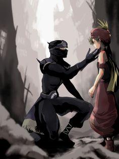 Shadow and Relm Final Fantasy Chronicles, Final Fantasy 3, Final Fantasy Artwork, Final Fantasy Characters, Fantasy Series, Fantasy World, Ninja Art, Character Inspiration, Character Art