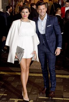 TOWIE's Jessica Wright and Mark Wright attend the press premiere of I Can't Sing at the London Palladium - 26 March 2014