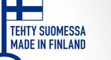 The Finnish Key Flag, traditional symbol in Finland to recognize Finnish made products for their quality, domestic labour and materials.