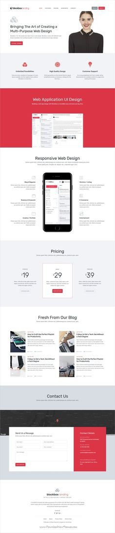 Blockbox is clean and modern design responsive #HTML5 theme for multipurpose #landingpage website with 25+ homepage layouts, 8 app and dashboard templates download now..