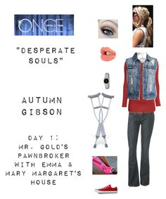"""OUAT - S1E8: ""Desperate Souls"" - Autumn Gibson"" by nerdbucket ❤ liked on Polyvore featuring Wet Seal, Charlotte Tilbury, Blue Nile, Citizen and Converse"