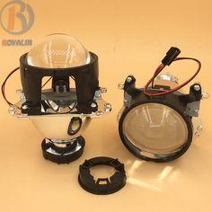 """ROYALIN Bi Xenon HID Projector Headlights Lens 2.8"""" D2S D2H bulbs LHD RHD for BMW 5 series e39 2001-2004 facelift Xenon Light"""