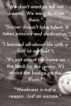 Soccer- I LOVE playing. It distracts me from my problems and allows me to release my emotions. Even though I can't play right now, hopefully I'll be able to play by when the season begins or next season and I will come back stronger to catch up for the missed time (: