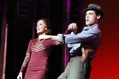 Bonnie & Clyde, Starring Laura Osnes and Jeremy Jordan, Hits Broadway with a Bang on Opening Night Bonnie And Clyde Musical, Bonnie And Clyde Photos, Bonnie Clyde, Theatre Nerds, Music Theater, Broadway Theatre, Tuck Everlasting Musical, Laura Osnes, Bonnie Parker