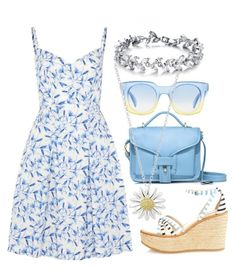 Pretty Pastel Blues by ellary-branden on Polyvore featuring philosophy, See by Chloé, Opening Ceremony, Daisy Jewellery and Marc by Marc Jacobs
