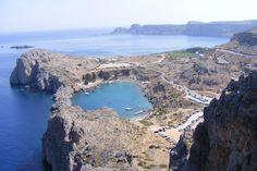 A small gulf from Lindos town , Rhodes island. Eye Exam, Rhode Island, Coast, Heaven, River, Eyes, Outdoor, Greece, Rhodes