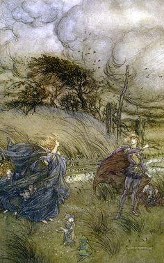 Illus from Shakespeare's A Midsummer Night's Dream, by Arthur Rackham