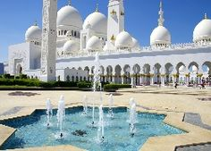 Abu Dhabi, Meczet, Sheikh Zayed, Fontanna