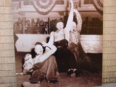 Rodeo clowns at one of the Stock Show's after we moved to the Will Rogers Memorial Complex.