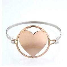 Bracciale cuore rosato in argento 925