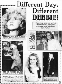 Debbie Gibson, Pretty Lights, Kylie Minogue, The Borrowers, Short Hair Styles, Take That, Hairstyle, Singer, Face