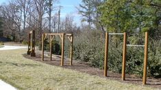 Stand alone Swings, Monkey bars and chin up bars are a great way to get activity in smaller places.