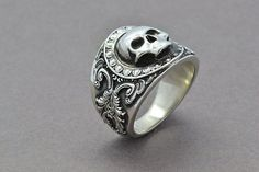 The Reaper Ring Skull Ring Sterling Silver by SuttonSmithworks