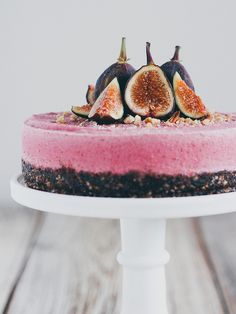 Raw fig cheesecake by Ashlae | oh, ladycakes, via Flickr
