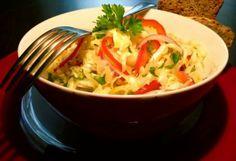 Fogyasztó-lúgosító sali | NOSALTY – receptek képekkel Thai Red Curry, Food To Make, Cabbage, Bbq, Paleo, Rice, Dishes, Vegetables, Health