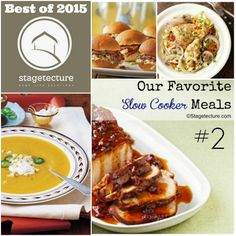 Best of 2015 - No 2 - Our Favorite Slow Cooker Recipes. Stagetecture's second most read post in 2015 is all about Crockpot recipes meals slow and delicious! #slowcooker #crockpot #dinner #recipe