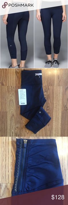 NWT Lululemon Runday Crop NWT- Inkwell (navy shade)- Luxtreme- Size 4- Price is firm- 🅿️🅿️ or Ⓜ️ for less lululemon athletica Pants Leggings