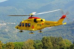 Italian AW139 HEMS helicopter, Photo : André Bour