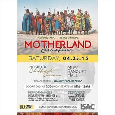 Radford University's African Students Association presents their 3rd Annual Mortherland Sarafina event on Saturday, April 25th in the Muse Banquet Hall. Admission is free.