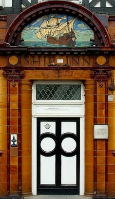 Doorway of the Ship Inn at Shalesmoor Sheffield Cool Doors, Unique Doors, Porches, South Yorkshire, Yorkshire England, England Uk, The Doors Of Perception, Knobs And Knockers, Door Knobs