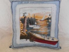 98  1 Novelty Pillow Nautical Theme Pillow  by NoveltyPillows4All, $29.00