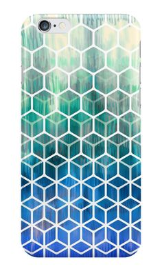 """""""The Geometry of Bees and Boxes"""" iPhone Cases & Skins by micklyn 