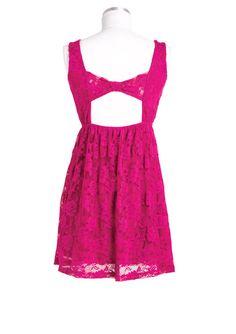 dELiAs > Sleeveless Lace Dress > Fushia