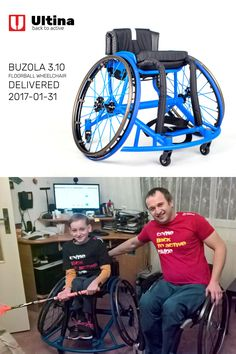 Made-to-measure floorball wheelchair Wheelchairs, Baby Strollers, Gym Equipment, Bike, Children, Sports, Baby Prams, Bicycle, Young Children