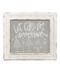 'Eat Cake' Framed Sign #zulily #zulilyfinds