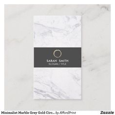 Modern Marble Dark Grey Accent Elegant Logo Trendy Customizable Business Card w Social Media Icons Artist & more. Vertical Business Cards, Gold Business Card, Elegant Business Cards, Burgundy And Gold, Grey And Gold, Dark Grey, Circle Logos, Social Media Icons, Things To Come