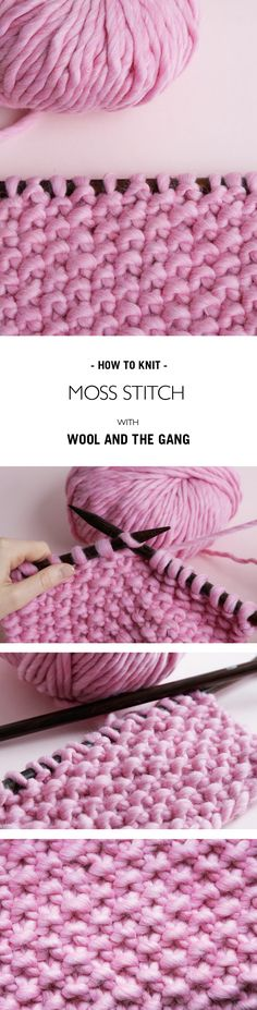 HOW TO KNIT MOSS STITCH | @woolandthegang