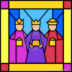 Three kings in stained glass by Connie Larsen, via Dreamstime