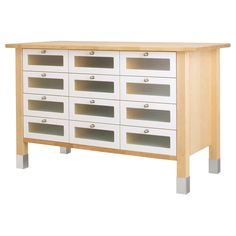 This freestanding drawing unit from IKEA would be great for organizing yarn and knitting and crochet supplies. Plus there's plenty of space on top for a large blocking board, ball winder and swift.