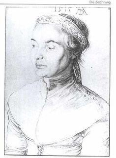 Durer: Portrait of a young woman  Deutsch: Bildnis eines jungen Mädchen, 1515