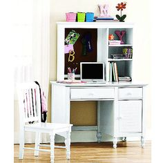 Kylie Collection Desk With Hutch And Chair Value Bundle, White