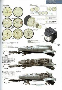 Last Exile Artbook -- Aerial Log -- Robot Picture, Range Murata, Last Exile, Steampunk, Japanese Lifestyle, Fantasy City, Sci Fi Characters, Sci Fi Art, Dieselpunk
