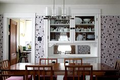 I just love this feature dining room wall.