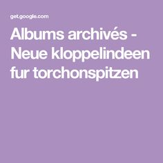Albums archivés - Neue kloppelindeen fur torchonspitzen