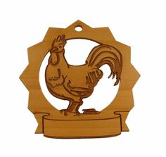 Rooster Personalized Ornament by gclasergraphics on Etsy, $9.95