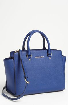 MICHAEL Michael Kors 'Selma - Large' Leather Satchel | Nordstrom    #DesignerHandbagsLove  #COM