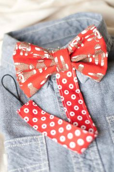 Sock Monkey Bow Tie Pacifier Clip by HappyBubblesCouture on Etsy