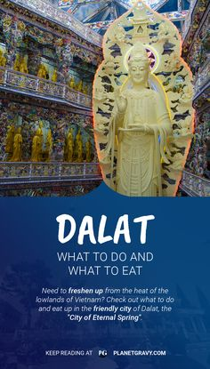 If you're traveling around Vietnam you should definitely visit the friendly city of Da Lat : http://planetgravy.com/dalat-doandeat/