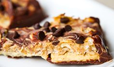 """Peanut Butter Cookie Bars, aka homemade """"Twix"""" bars, are dairy-free and vegan. Give these decadent bars a try.."""