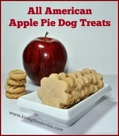 This time of year means kitchens are filled with scents of apple pie, pumpkin pie and pecan pie. All of which Kirby would love a tasty bite, no he would love a slice. Ok he probably does get a bit now and then but I'm telling you, he has his drool look No Bake Dog Treats, Dog Treats Grain Free, Puppy Treats, Diy Dog Treats, Homemade Dog Treats, Dog Treat Recipes, Dog Food Recipes, Shih Tzu, American Apple Pie