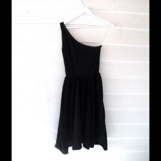 American Apparel One Shoulder Dress S Simple black dress! So lovely. In fabulous condition. Size S. American Apparel Dresses Midi